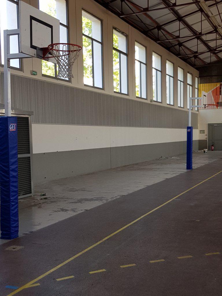 Rénovation peinture d'un gymnase et réalisation d'une fresque : peinture acrylique mate 4
