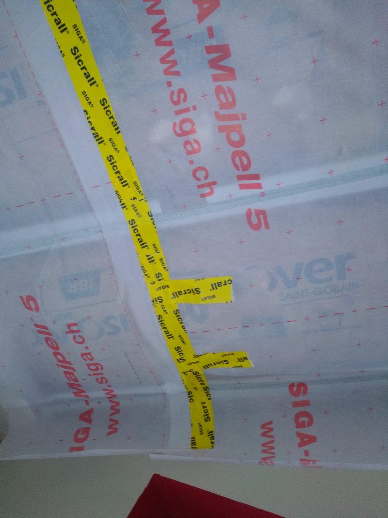 Isolation de combles aménagées avec membrane d'étanchéité 4